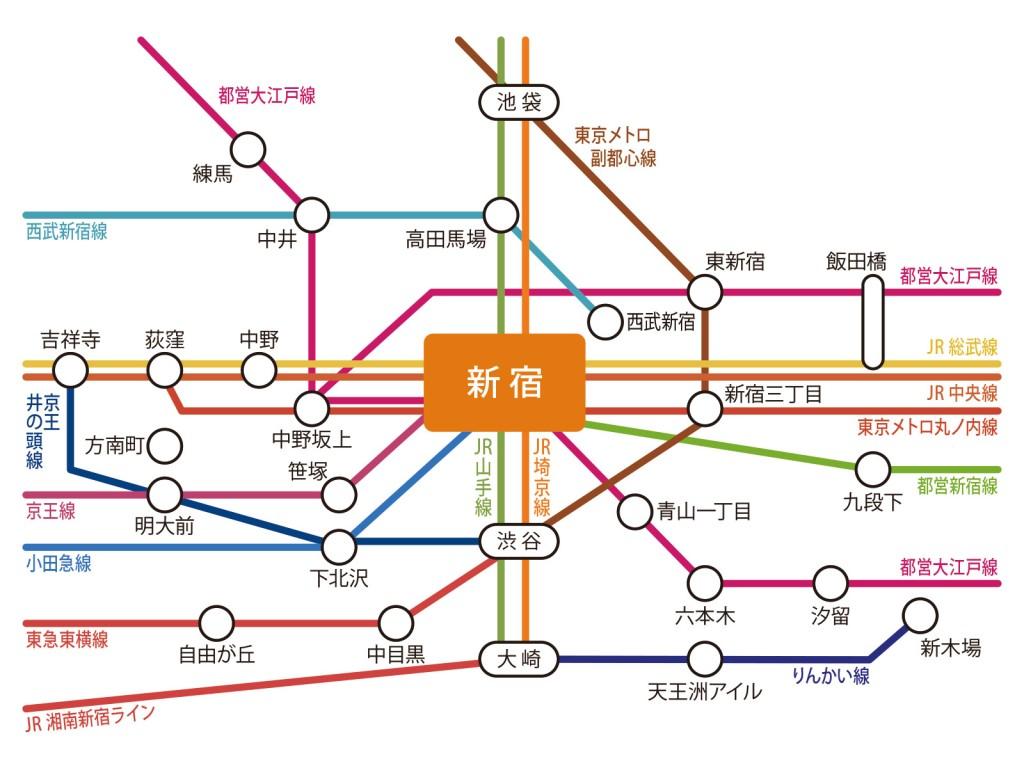 新宿_路線図
