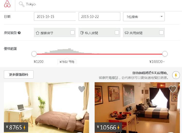 中国語でairbnb