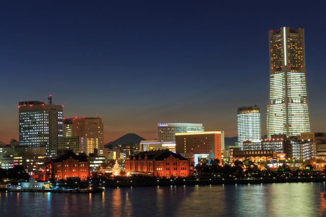 横浜市の夜景