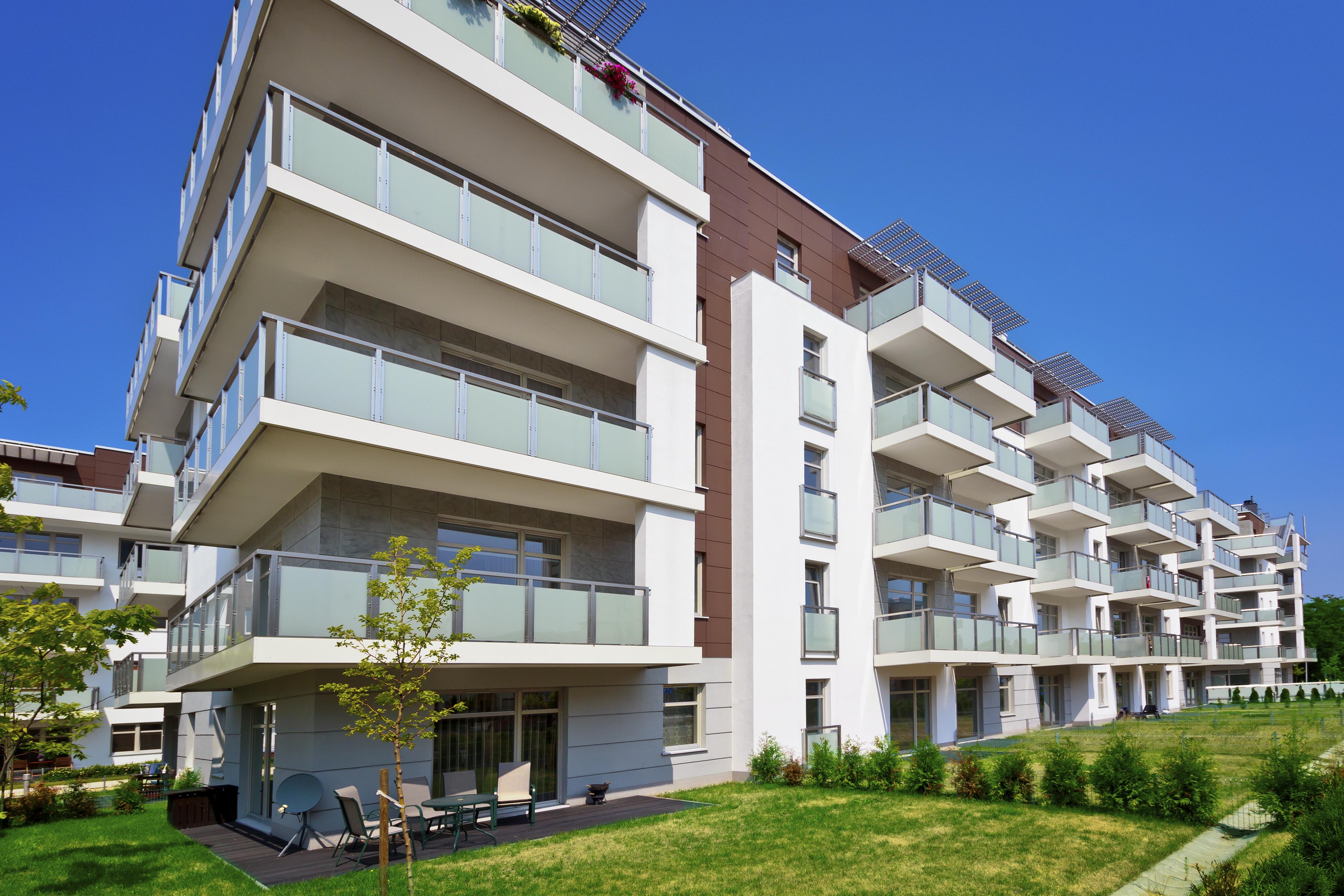 モダンなアパートメントのハウス、グダニスク,ポーランド