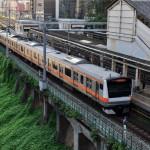 中央線御茶ノ水駅の風景