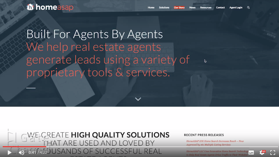 【動画】アメリカの不動産業者向け情報検索サイト「homeasap」の紹介