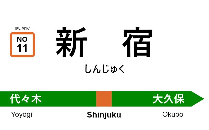中央線(快速) – 新宿駅 駅カタログ2018