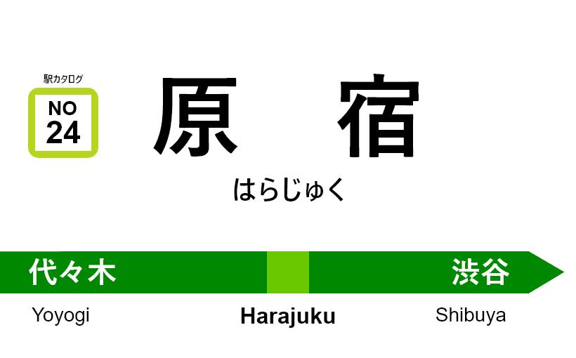 山手線 – 原宿駅|駅カタログ2018