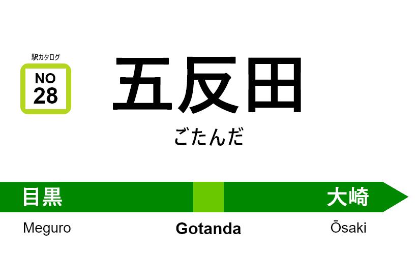 山手線 – 五反田駅|駅カタログ2018
