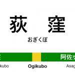 中央・総武線 – 荻窪駅 駅カタログ2018