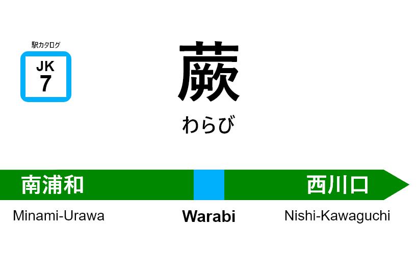 京浜東北線 – 蕨駅|駅カタログ2018
